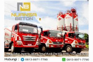HARGA BETON JAYAMIX JAKARTA TIMUR PER M3 DESEMBER 2020