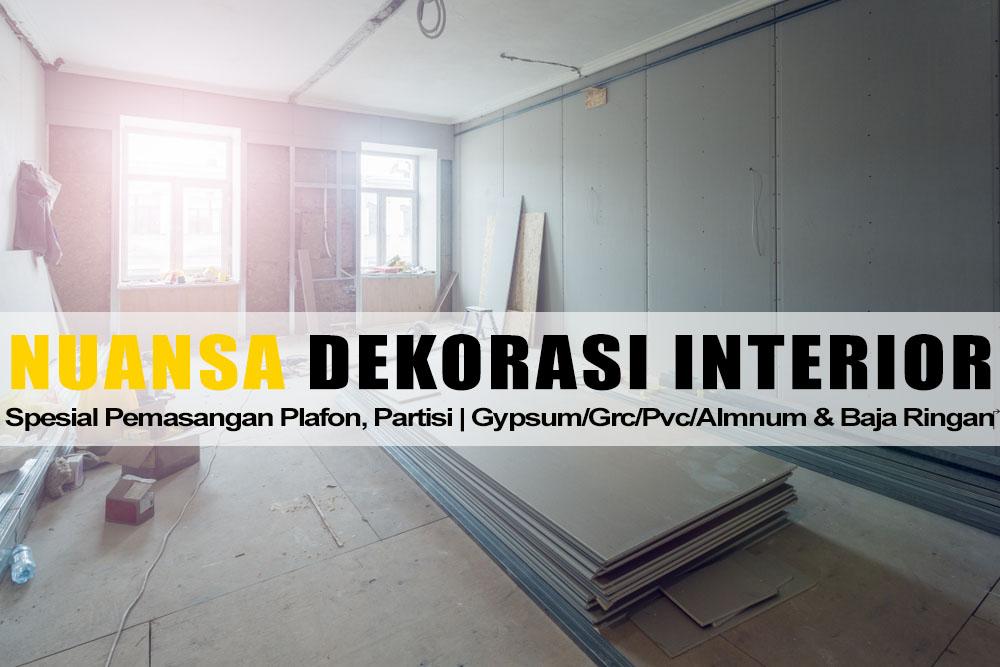 Harga Jasa Pasang Plafon Gypsum Lampung Per Meter Terbaru 2020